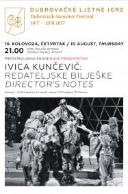 Predstavljanje knjige Ivice Kunčevića REDATELJSKE BILJEŠKE u Dubrovniku
