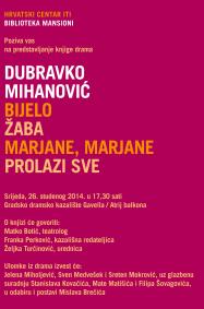 Predstavljanje knjige drama Dubravka Mihanovića